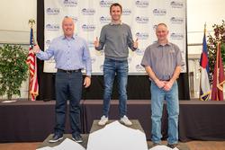 Overall winner Romain Dumas, second place Peter Cunningham, third place Clint Vahsholtz