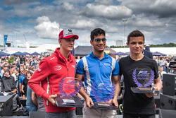 Podium rookies : Mick Schumacher, Prema Powerteam, Dallara F317 - Mercedes-Benz, Jehan Daruvala, Carlin, Dallara F317 - Volkswagen , Lando Norris, Carlin Dallara F317 - Volkswagen