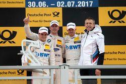 Podium: 1. Maxime Martin, BMW Team RBM, BMW M4 DTM, 2. Lucas Auer, Mercedes-AMG Team HWA, Mercedes-A