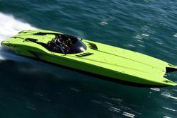 MTI G6 speedboat, in de stijl van de Lamborghini Aventador