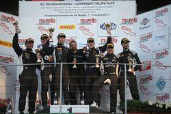 Podio SGTCup Gara 1: al primo posto Vainio-Tujula, Vincenzo Sospiri Racing, al secondo posto Bonacini-Pastorelli, Imperiale Racing, al terzo posto Benvenuti-Demarchi, Imperiale Racing
