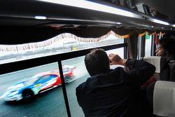 Bus passengers enjoy the circuit safari