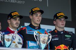 Podium: Dorian Boccolacci, Trident, Alessio Lorandi, Jenzer Motorsport, Niko Kari, Arden Internation