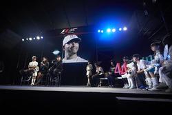 Lewis Hamilton, Mercedes AMG F1, Valtteri Bottas, Mercedes AMG F1, on stage in the F1 Fanzone