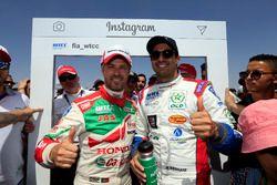 Tiago Monteiro, Honda Racing Team JAS, Honda Civic WTCC and Mehdi Bennani, Sébastien Loeb Racing, Ci