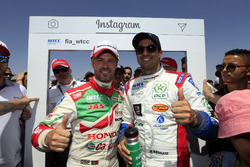 Tiago Monteiro, Honda Racing Team JAS, Honda Civic WTCC e Mehdi Bennani, Sébastien Loeb Racing, Citr