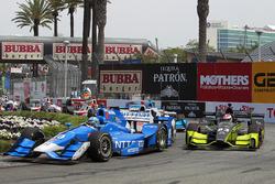 Tony Kanaan, Chip Ganassi Racing Honda et Charlie Kimball, Chip Ganassi Racing Honda