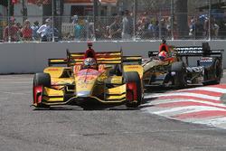 Ryan Hunter-Reay, Andretti Autosport Honda, James Hinchcliffe, Schmidt Peterson Motorsports Honda