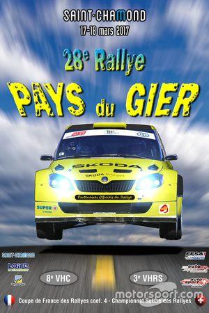 Rallye Pays du Gier, locandina 2017