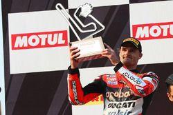 Podio: il secondo classificato Chaz Davies, Ducati Team