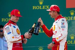 Podium: winner Scott McLaughlin, Team Penske Ford, second place Fabian Coulthard, Team Penske Ford