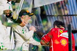 Podium: 2. Lewis Hamilton, Mercedes AMG; 3. Valtteri Bottas, Mercedes AMG; 1. Sebastian Vettel, Ferr
