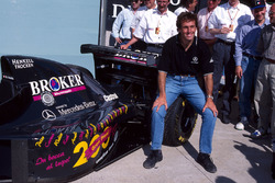 Andrea De Cesaris, Sauber, feiert seinen 200. Grand Prix