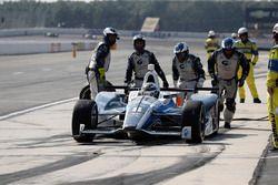 Max Chilton, Chip Ganassi Racing Honda, pit stop