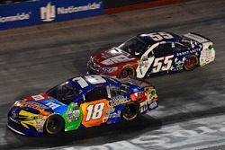 Kyle Busch, Joe Gibbs Racing Toyota, Gray Gaulding, Premium Motorsports Chevrolet