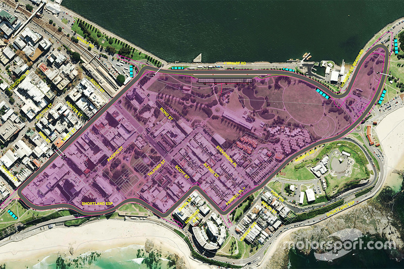 Rendering of the Newcastle street circuit