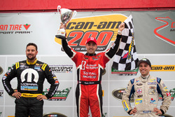 Podium: race winner Kevin Lacroix, second place Andrew Ranger, third place Gary Klutt
