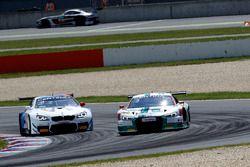 #1 Montaplast by Land-Motorsport, Audi R8 LMS: Connor De Phillippi, Christopher Mies; #42 BMW Team S