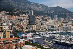 Blick über den Stadtkurs in Monaco