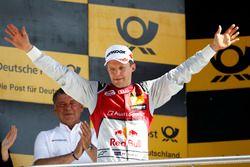 Podium: segundo, Mattias Ekström, Audi Sport Team Abt Sportsline, Audi A5 DTM