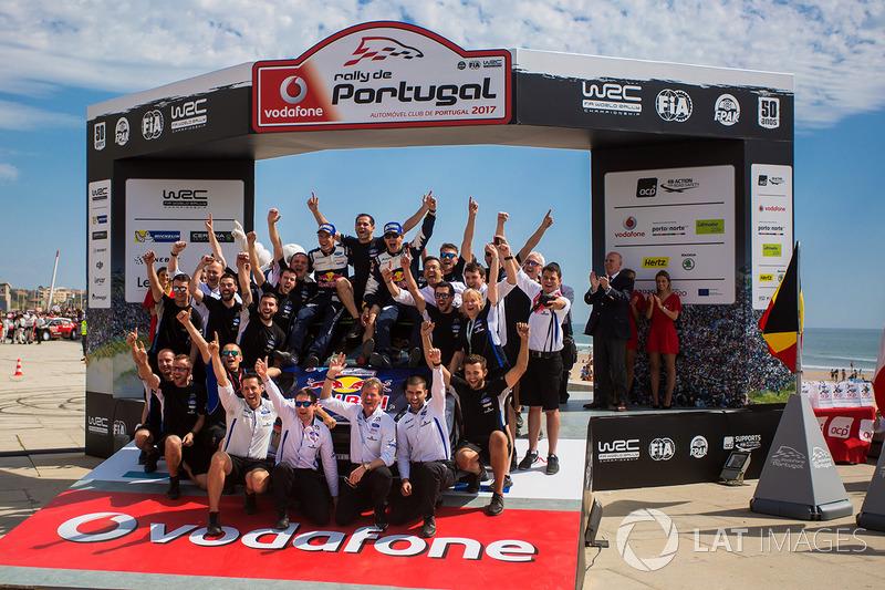 I vincitori Sébastien Ogier, Julien Ingrassia, Ford Fiesta WRC, M-Sport