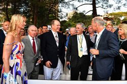 Sonia Irvine, Jackie Stewart, HSH Prince Albert of Monaco, and Chase Carey, Chief Executive Officer
