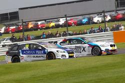 Ashley Sutton, Team BMR Subaru Levorg and Colin Turkington, West Surrey Racing BMW 125i M Sport
