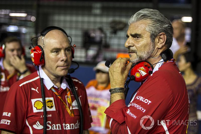 Maurizio Arrivabene, Ferrari Takım Patronu ve Jock Clear, Ferrari Şef Mühendisi
