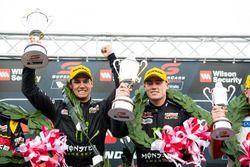 Podium: race winners Cameron Waters, Prodrive Racing Australia Ford, Richie Stanaway, Prodrive Racing Australia Ford