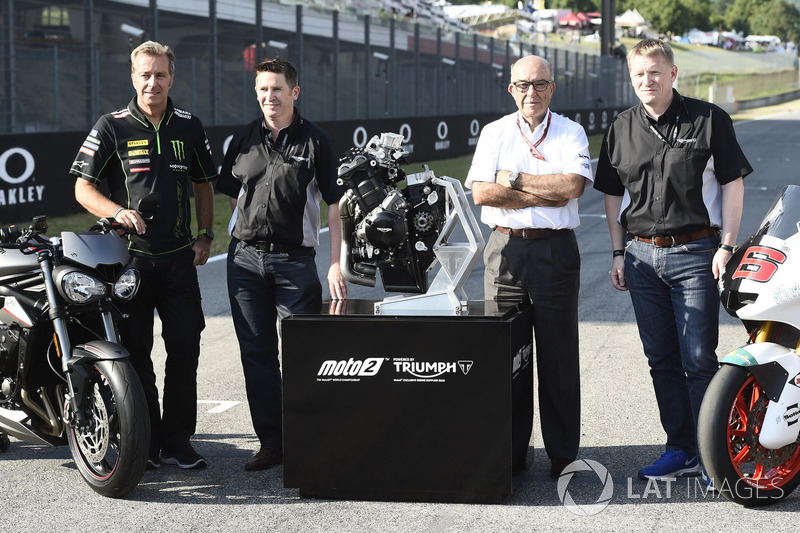 Triumph Moto2 engine supplier for 2019, Hervé Poncharal, Tech 3, Steve Sergent, Carmelo Ezpeleta, CEO Dorna, Andrew Stroud