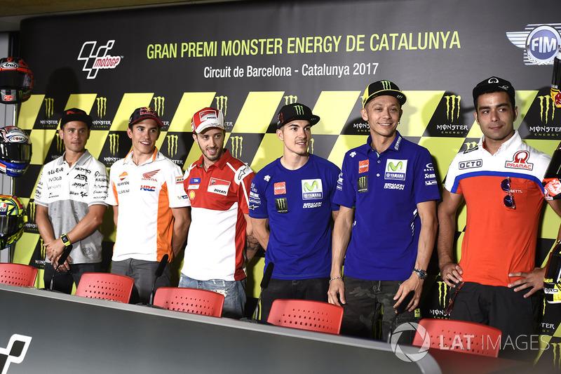 Alvaro Bautista, Aspar Racing Team, Marc Márquez, Repsol Honda Team, Maverick Viñales, Yamaha Factory Racing, Valentino Rossi, Yamaha Factory Racing, Danilo Petrucci, Pramac Racing