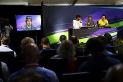 The Thursday press conference: Lewis Hamilton, Mercedes AMG F1, Fernando Alonso, McLaren and Jolyon Palmer, Renault Sport F1 Team