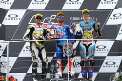 Podium: second place Thomas Luthi, CarXpert Interwetten, Race winner Mattia Pasini, Italtrans Racing
