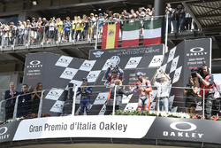 Podium: second place Maverick Viñales, Yamaha Factory Racing, Race winner Andrea Dovizioso, Ducati T