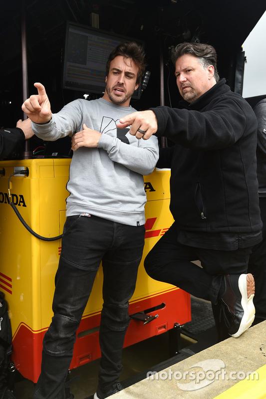Fernando Alonso e Michael Andretti