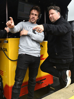 Fernando Alonso and Michael Andretti