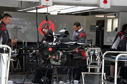 Haas F1 Team VF-17 in the garage