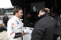 Fernando Alonso, Andretti Autosport, Honda; Michael Andretti, Andretti Autosport