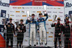 GT4 Podium, Stuart Middleton, William Tregurtha, HHC Motorsport, Ginetta G55 GT4 wins