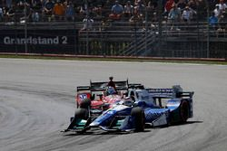 Kollision: Graham Rahal, Rahal Letterman Lanigan Racing Honda, Takuma Sato, Andretti Autosport Honda