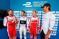 Nick Heidfeld, Mahindra Racing, Sam Bird, DS Virgin Racing, Felix Rosenqvist, Mahindra Racing, andJe