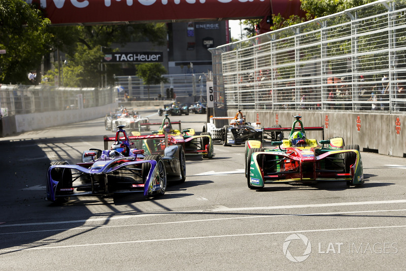 Jose Maria Lopez, DS Virgin Racing, con Lucas di Grassi, ABT Schaeffler Audi Sport