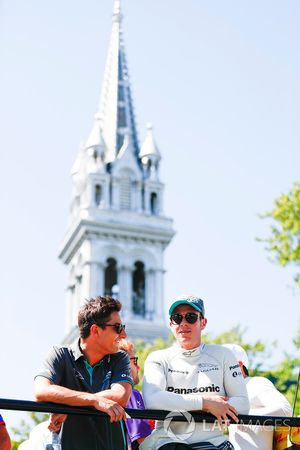 Mitch Evans, Jaguar Racing, and Adam Carroll, Jaguar Racing
