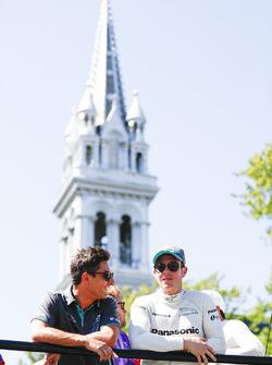 Mitch Evans, Jaguar Racing, et Adam Carroll, Jaguar Racing