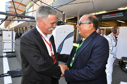 Chase Carey, Chief Executive Officer and Executive Chairman of the Formula One Group and Antonio Per