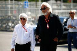 Bernie Ecclestone en Flavio Briatore