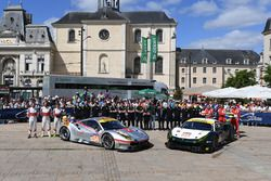 #54 Spirit of Race Ferrari 488 GTE: Thomas Flohr, Francesco Castellacci, Olivier Beretta, #55 Spirit