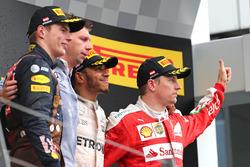 Lewis Hamilton, Mercedes AMG F1 Team, Kimi Räikkönen, Scuderia Ferrari et Max Verstappen, Red Bull Racing
