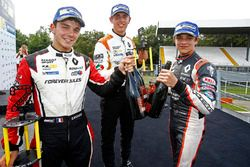 Podium race 1: winner Lando Norris, Josef Kaufmann Racing, second place Dorian Boccolacci, Tech 1 Racing, third place Harrison Scott, AVF by Adrian Valles