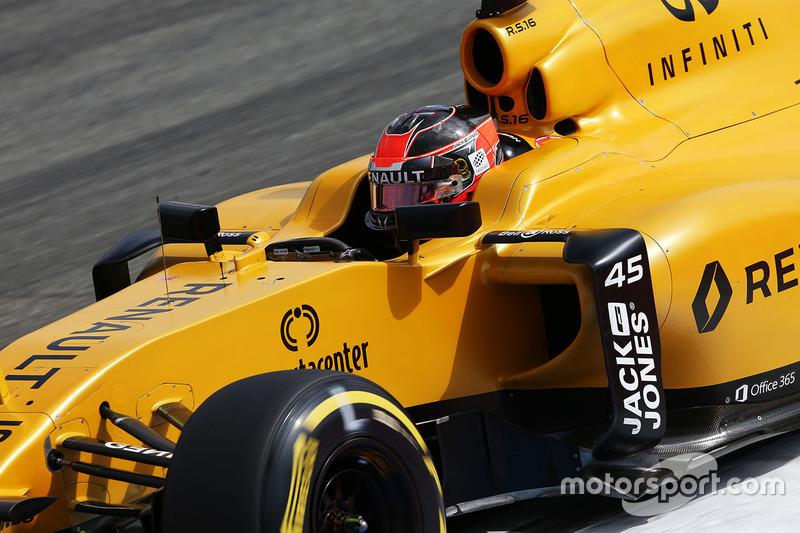Esteban Ocon, Renault Sport F1 Team R16 Piloto de pruebas, en la PL1 del GP de Alemania 2016